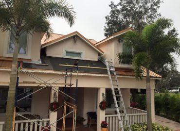 in-progress metal repair in Riverview, FL