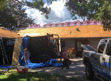 in progress roof in lutz