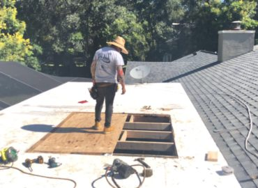Filled in Skylight Hole on Flat Roof