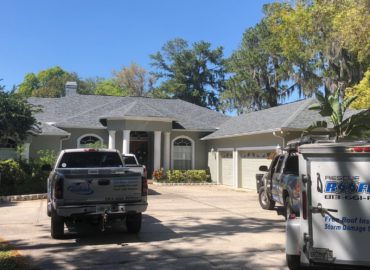 Owens Corning Duartion Architectural Estate Grey Shingle Re Roof in Land O' Lakes, FL. Home is Approx. 8500 Sqft